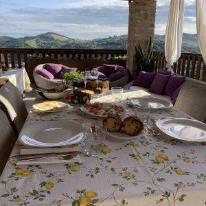 dettaglio colazioni terrazza